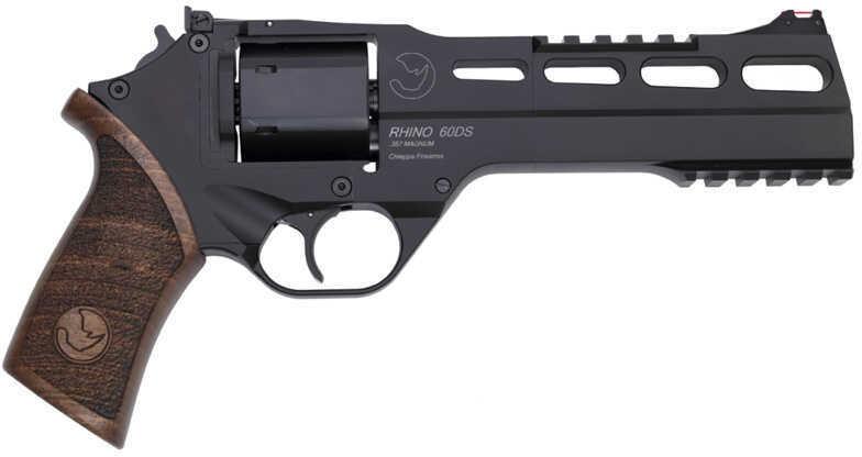 "Chiappa Rhino  Revolver 357 Magnum 6"" Barrel 6 Round  Black Steel Single / Double Action Pistol  340221"