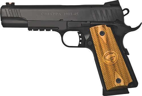 "Chiappa Firearms 1911 Custom 45 ACP 5"" Barrel 8 Round Tactical Rail Novak Style Fiber Optic Sights Semi Automatic Pistol 440-030"