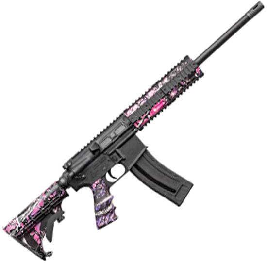 """Chiappa Firearms M four-22 Rifle Pro Semi-Auto  22 Long Rifle  16"""" Barrel  Muddy Girl Pink Camo  10 Rounds CF500-128"""