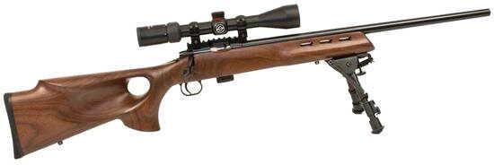"Crickett Keystone 722 Varmint Bolt Action Rimfire Rifle 22 Long Rifle 20"" Barrel Target 7 Rounds Walnut 20030"