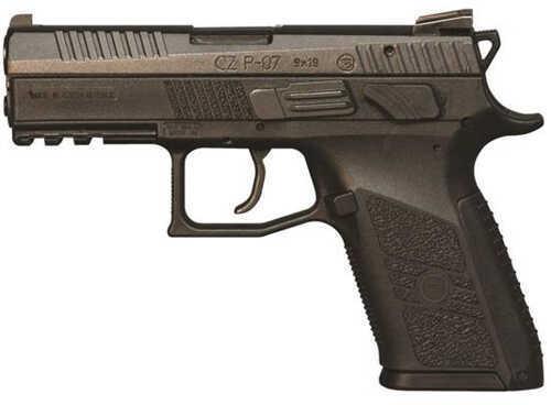 "CZ 75 P-07 Duty 9mm Luger 3.8"" Barrel 15 Round Black Nitride Semi Automatic Pistol 91086"