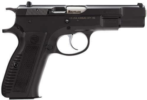 "CZ USA CZ75B Retro 9mm Luger 4.7"" Barrel 16 Round Double Action Spur Hammer Aluminum Grips Semi Automatic Pistol 91117"