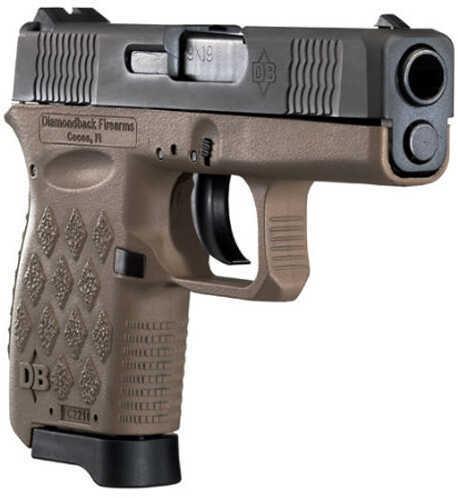 "Diamondback Firearms DB9 9mm Luger 3"" Barrel 6 Round Grips Flat Dark Earth Finish Polymer Pistol DB9Flat Dark Earth"