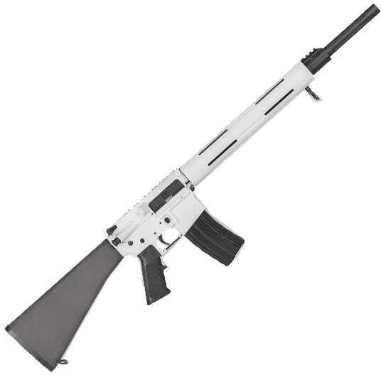 "DPMS Arctic Panther Semi Auto AR-15 Rifle 223 Remington/5.56 NATO 20"" Barrel White/Black Finish 30 Round 60502"