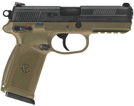 FNH FNX-45 45ACP 10 Round Flat Dark Earth Frame Black Slide Semi Automatic Pistol 66965