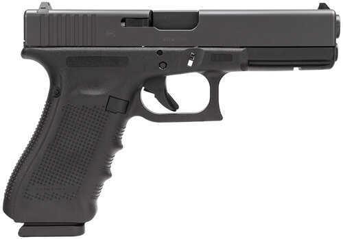 "Glock 17 Gen4 9mm Luger 4.5"" Barrel 17 Round Fixed Sights Modular Backstrap Black Semi Automatic Pistol PG1750203"