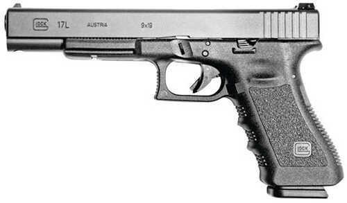 "Glock 17 Long Slide 9mm Luger 6"" Barrel 10 Round Double Action Polymer Grip Frame Black Semi Automatic Pistol PI1630101"