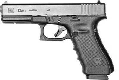 "Glock 22 Gen 4 40 S&W 4.49"" Barrel 10 Round Semi Automatic Pistol PG2250201"
