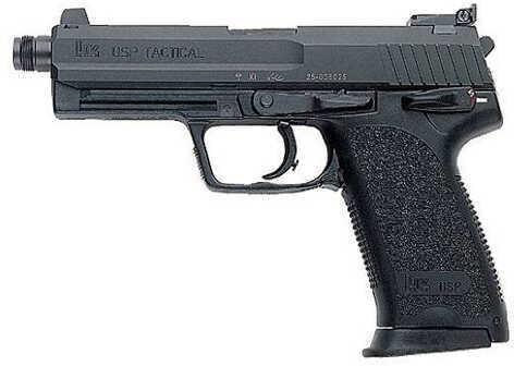 "Heckler & Koch USP 40 S&W Tactical V1 4.70"" Threaded Barrel 10 Round 2 Magazines Semi Automatic Pistol 704001TA5"