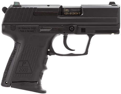 "Heckler & Koch P2000 9mm Luger 3.3"" Barrel 10 Round Night Sights Black No Manual Safety Semi Automatic Pistol 709303LEA5"