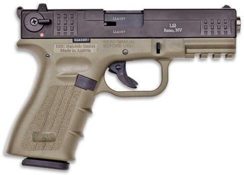 "ISSC Austria M22 22 Long Rifle 4"" Barrel 10 Round Green/Black Finish Semi Automatic Pistol 111014"