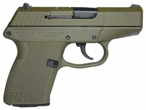 """Kel-Tec P-11 Pistol 9mm Luger Luger 3.1"""" Barrel 10 Rounds Cerakote OD Green/Cerakote OD Green P11GRNGRN"""