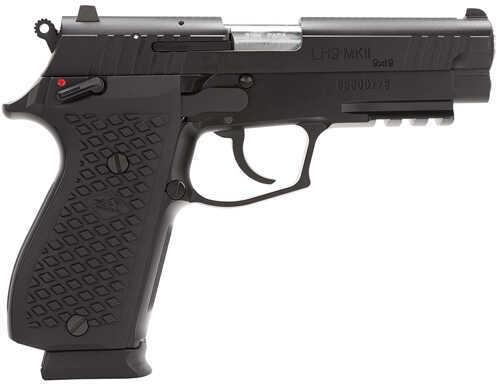 "Lionheart Industries Lionheart LEFT HANDED9-MKII 9mm Luger 4.1"" Barrel 15 Round Light Rail Cerakote Black Semi Automatic Pistol 109MFXDBLK"