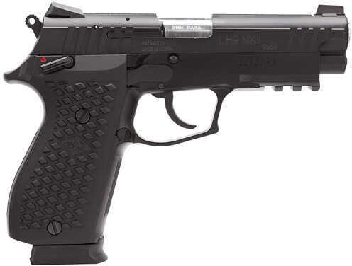 "Lionheart Industries LEFT HANDED9-MKII 9mm Luger 4.1"" Barrel 15 Round Light Rail Novak Sights Cerakote Black Semi Automatic Pistol 109MFXDBLK"