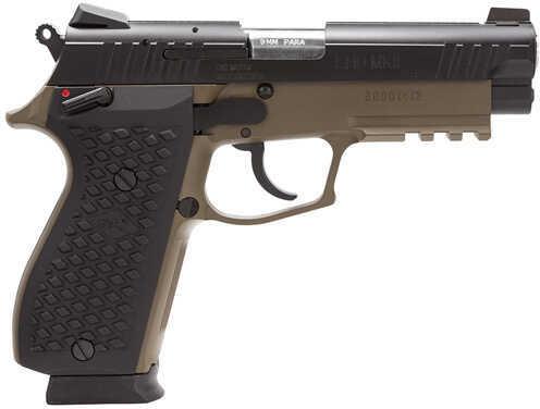"Lionheart Industries Lionheart LEFT HANDED9N MKII DA+ 9mm Luger 4.1"" Barrel 15 Round Novak Black Grip Brown Cerakote Semi Automatic Pistol 109MNVKBRN"