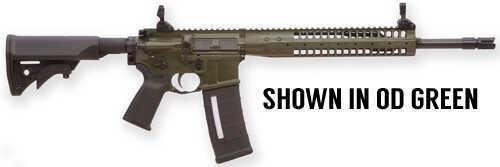 "LWRC Six8 RB16 6.8mm SPC 16"" Barrel 30 Round Black MIAD Four Rail Handguard Hammer Forged Gas Piston Semi Automatic Rifle SIX8RB16SPR"