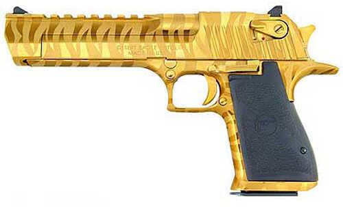 "Magnum Research Desert Eagle Mark XlX 44 Magnum 6"" Barrel 8 Round Titanium Gold Tiger Stripes Semi Automatic Pistol 22212"