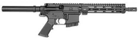 "Midwest Industries 223 Remington /5.56 NATO 10.5"" Barrel 10 Round Black M-Lok Handguard Semi Automatic Pistol MI-ARP223M"