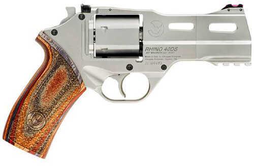 "Chiappa White Rhino 40S&W 4"" Barrel 6 Round Brushed Nickel Revolver   WHRHINO4040DS"