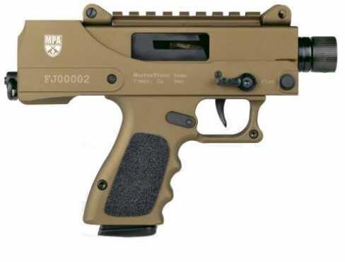 "Master Piece Arms MasterPiece Arms Semi-Automatic Pistol 9mm Luger 3.5"" Threaded Barrel Cerakote Burnt Bronze 17 Rounds MPA930DMG"