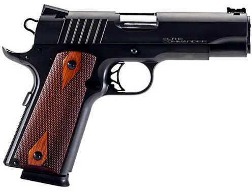 "Para USA Elite Commander 45 ACP 4.25"" Barrel 8 Round Black Stainless Steel Cocobolo Grip Semi Automatic Pistol 96667"