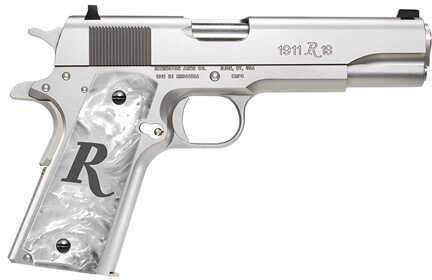 "Remington 1911 R1 45 ACP 5"" Barrel 8 Round Steel Polished Chrome Semi Automatic Pistol 96304"