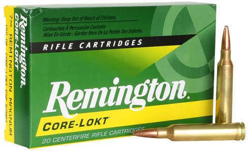 Remington Core-Lokt 7mm Remington Magnum 150 Grain Pointed Soft Point Ammo (Per 20) R7MM2