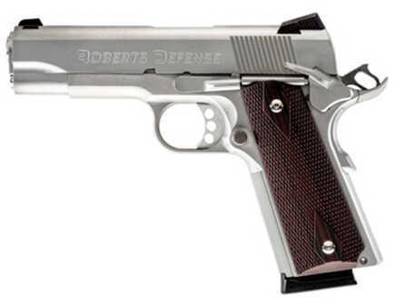 "Roberts Defense Super Grade Custom 45 ACP 4.25"" Barrel 8 Round All Stainless Steel Semi Automatic Pistol SGCS45"