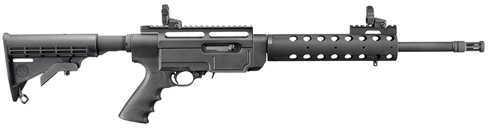 "Ruger SR22 Standard 22 Long Rifle 16.1"" Barrel 10 Round 6 Position Stock Flash Supressor Black Semi Automatic Rifle 11134"