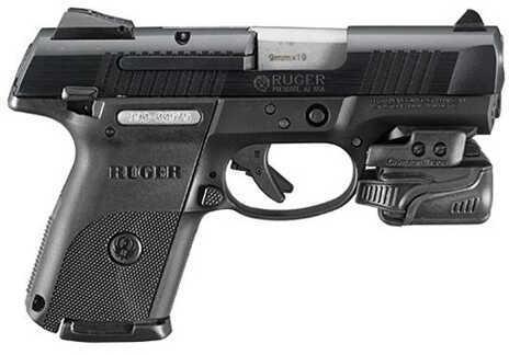 "Ruger TALO SR9c 9mm Luger 3.5"" Barrel 17 Round Crimson Trace Light Black Semi Automatic Pistol 3331"