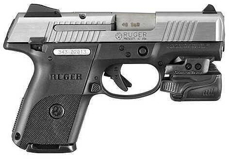 "Ruger TALO SR40C 40 S&W 3.5"" Barrel 15 Round Crimson Trace Light Stainless Steel Semi Automatic Pistol 3480"