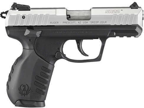 "Ruger SR22 Standard 22 Long Rifle 3.5"" Barrel 10 Round Black Polymer Grip Semi Automatic Pistol 3607"
