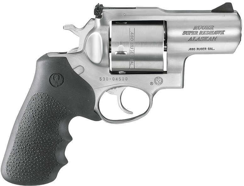 """Ruger Super Redhawk Standard 480 Ruger 2.5"""" Barrel 6 Round Stainless Steel Hogue Tamer Monogrip Revolver 5302 KSRH2480"""