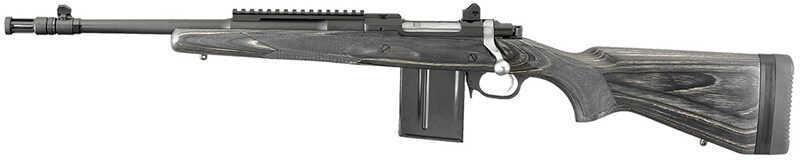 "Rifle Ruger Gunsite Scout Bolt 223 Remington/5.56 NATO 16.1"" Barrel 10+1 Rounds Lam Stock Black 6827"