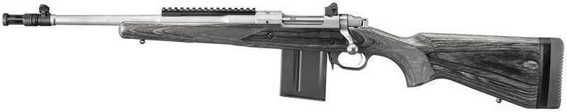 "Rifle Ruger Gunsite Scout Bolt Left Handed 223 Rem/5.56 NATO 16.1"" Barrel 10+1 Rounds Black Lam Stock Stainless Steel 6828"