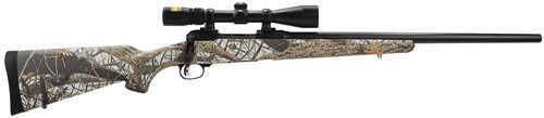 "Savage Arms Trophy Predator Hunter 22-250 Remington  22"" Matte Black Barrel  4 Round  3-9x40 Nikon Scope  Wood Snow Camo  Bolt Action Rifle 22218"