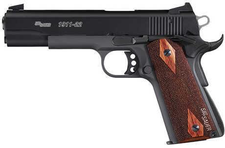 "Sig Sauer 1911 22 Long Rifle 5"" Barrel 10 Round CA Legal Black Semi Automatic Pistol 191122BCA"