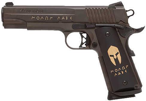 "Sig Sauer 1911 45 ACP 5"" Barrel 8 Round Molon Labe Engraved Spartan Grip Night Sights Semi Automatic Pistol 191145SPARTAN"