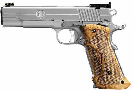 "Sig Sauer 1911 Super Target 45 ACP 5"" Barrel 8 Round Stainless Steel Semi Automatic Pistol 191145SSTGT"