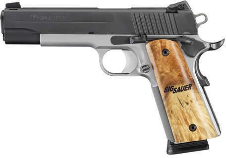 "Sig Sauer 1911 TTT Semi Automatic Pistol .45 ACP 5"" Barrel 8 Rounds Maple Grips Nitron Finish 1911M45TTT"