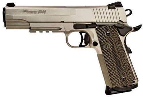 "Sig Sauer 1911 45 ACP 5"" Barrel 8 Round Nickel Finish Semi Automatic Pistol 1911R45NI"