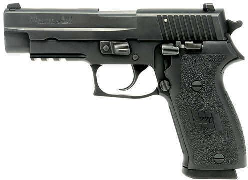 """Sig Sauer P220 T ACP ac-L 45 ACP 4.4"""" Barrel 8 Round Black Semi Automatic Pistol 220R45BSSTAC"""