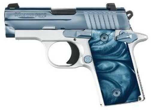 Sig Sauer P238 Pistol 380 ACP Blue Ice High Polish Stainless Steel Slide  6 Round Semi-Auto Pistol    238380BICE