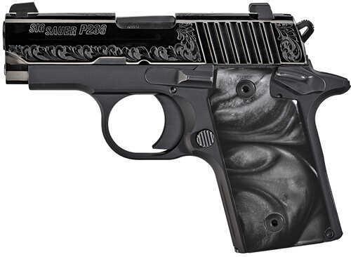 "Sig Sauer P238 380 ACP 2.7"" Barrel 6 Round Single Action Nitron Finish Black Frame Semi Automatic Pistol 238-380-ESB"