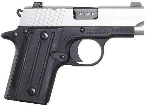 "Sig Sauer P238 380 ACP 2.72"" Barrel 6 Round Single Action Compact Duo Tone Semi Automatic Pistol 238-380-TSS-CA"