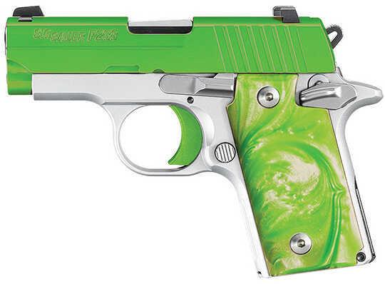 Sig Sauer P238 Pistol 380 ACP Green Envy  Siglite Night Sights  6 Round Semi-Auto Pistol     238380ENVY