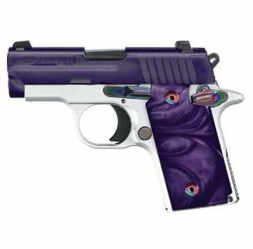 Sig Sauer P238 Purple Chrome Ice Pistol .380 ACP 2.72in Barrel 6 Rounds White Purple 238380PCR