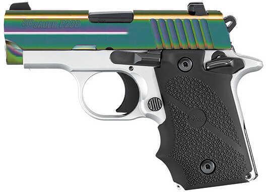 "Sig Sauer P238 Tactical Edge  380 ACP  2.7""  Barrel 6 Round  White Frame  Rainbow Slide  Semi Automatic Pistol 238380TEDGE"