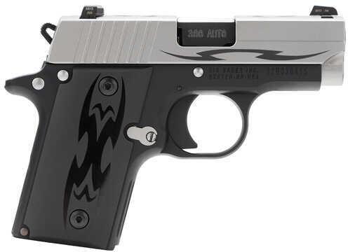 "Sig Sauer P238 Tribal 380 ACP 2.7"" Barrel 6 Round Black Aluminum Grip Stainless Steel Semi Automatic Pistol    238380TSSTRI"