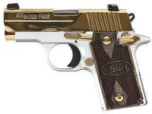 "Sig Sauer P238 Pistol 380 ACP 2.72"" Barrel 6 Round White Gold Slide Semi-Auto Pistol 238380WAU"